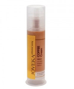 Joveka Coffee Cream Solarkosmetik mit Koffein, Sheabutter 100 ml