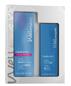 Wellmaxx Duo-Set Hyaluron Collagen Booster + Hyaluron Augengel - Pflegeset
