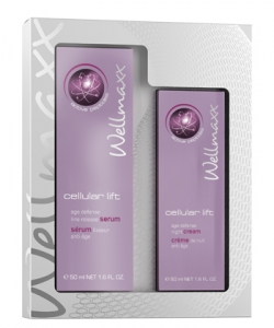 Wellmaxx cellular lift Duo-Set Age Defense Line Release Serum + Augencreme